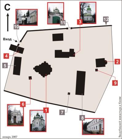 План Выдубицкого монастыря
